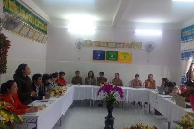 Trường Mẫu giáo Đại Nghĩa đón đoàn kiểm tra đánh giá ngoài của Sở GDĐT Quảng Nam