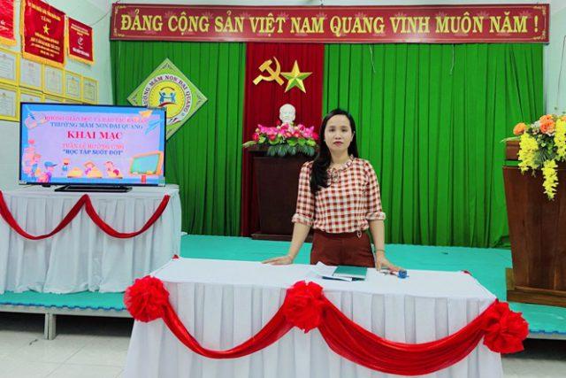 Trường MM Đại Quang hưởng ứng Tuần lễ học tập suốt đời.