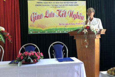 Giao lưu kết nghĩa giữa các trường MN,MG huyện Đại Lộc và huyện Nam Giang