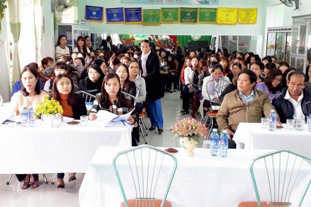 """chuyên đề """"Hoạt động giáo dục lấy trẻ làm trung tâm"""" tại Trường MN Đại Quang"""