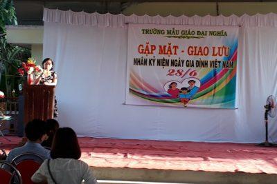 Trường MG Đại Nghĩa tổ chức gặp mặt dâu, rể nhân kỷ niệm ngày Gia đình Việt Nam.