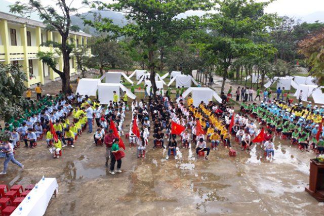 """Trường THCS Kim Đồng tổ chức Ngày hội """"Thiếu nhi vui khỏe- Tiến bước lên Đoàn""""."""