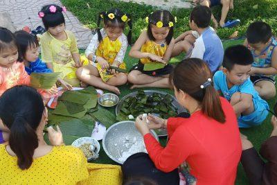 Vui Tết Đoan Ngọ – Một hoạt động trải nghiệm thực tế bổ ích cho trẻ tại trường MG Đại Lãnh