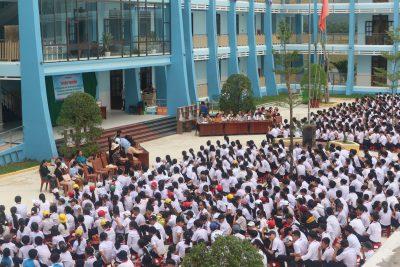 Trường THCS Nguyễn Trãi tổ chức tuyên truyền phổ biến giáo dục pháp luật cho học sinh nhân ngày Quốc tế thiếu nhi 01/6