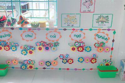 """Trường MN Ái Nghĩa tổ chức Hội thi """"Thiết kế môi trường hoạt động cho trẻ"""""""