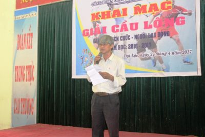 Công đoàn Giáo dục huyện Đại Lộc khai mạc giải cầu lông cán bộ, viên chức, người lao động năm học 2016-2017