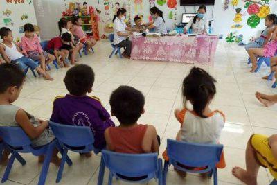 Công tác chăm sóc sức khỏe cho trẻ tại Trường Mẫu giáo Đại Lãnh