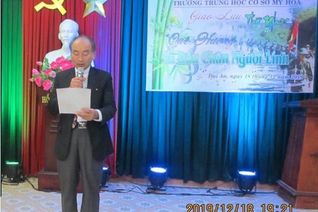 Trường THCS Mỹ Hòa tổ chức giao lưu thơ nhạc nhân kỷ niệm 75 năm ngày Thành lập Quân đội Nhân dân Việt Nam (22/12/1944-22/12/2019)
