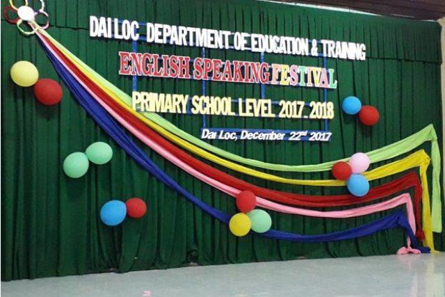 Ngày hội giao lưu tiếng Anh cấp Tiểu học tại trường TH Trần Tống