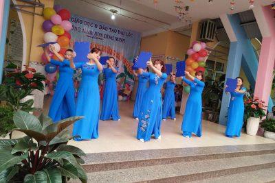 Trường MN Bình Minh tổ chức chuyên đề giáo dục vệ sinh và dinh dưỡng cho trẻ mầm non.